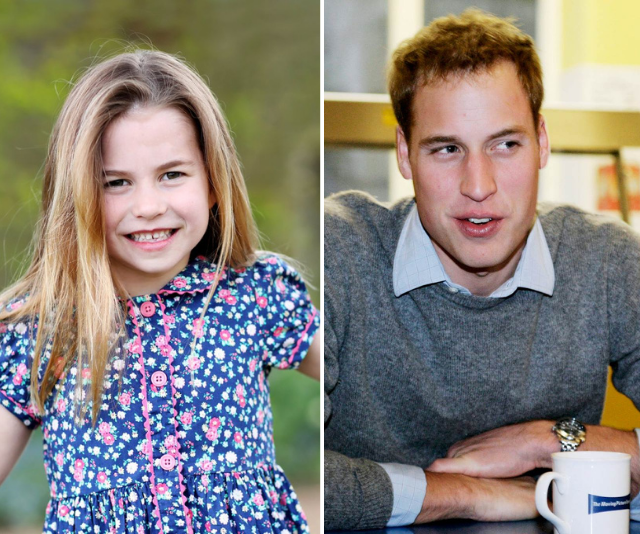 To mark Charlotte's sixth birthday Kensington Palace released a gorgeous new portrait of the vibrant young Princess, taken by Duchess Catherine in Norfolk. <br><br>  Dressed in a blue floral dress and grinning from ear to ear we think her dad William is definitely getting more of a look in as she grows up.