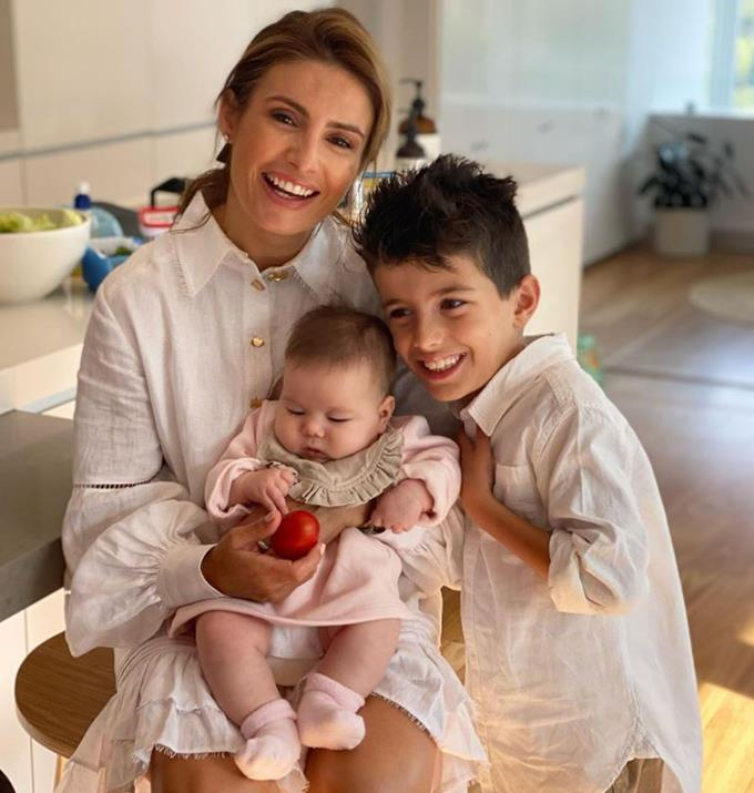 Ada enjoying precious moments with her son and niece.