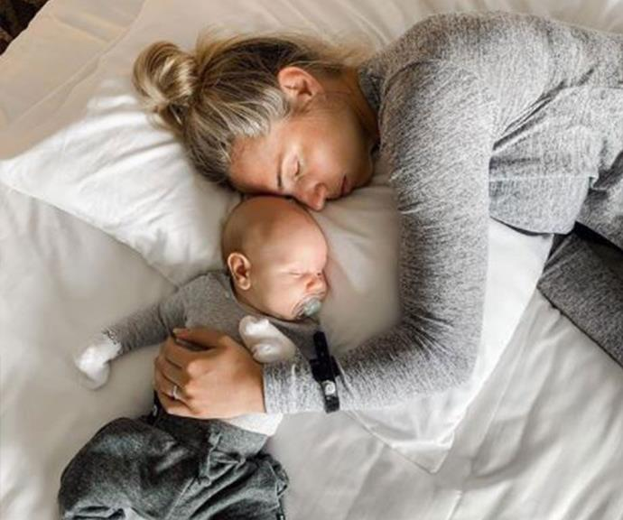 Nothing beats a mother-son nap session.