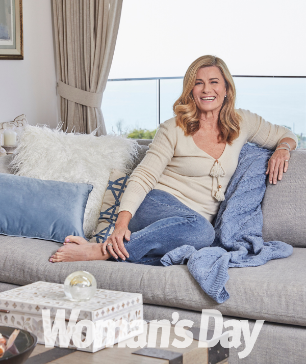 Deborah is keeping busy with her new homewares line, Home with Deborah Hutton for MyHouse, and is about to start filming a new series *Find My Dream Home* with Foxtel.