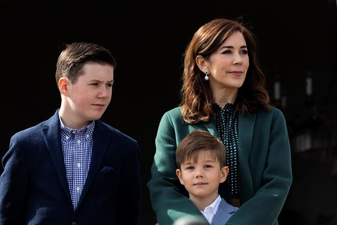 There's speculation Mary is harbouring concerns for Prince Christian (left).