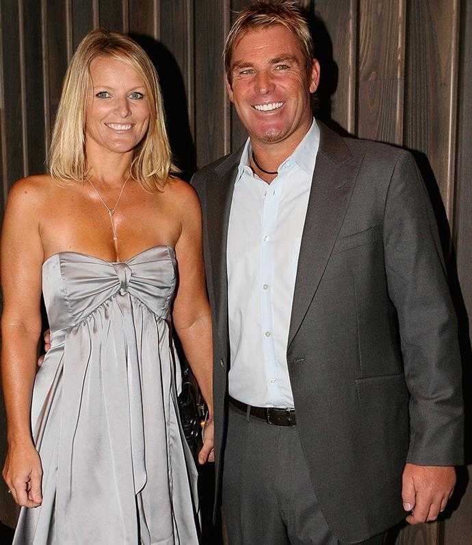 Shane and his former wife Simone.