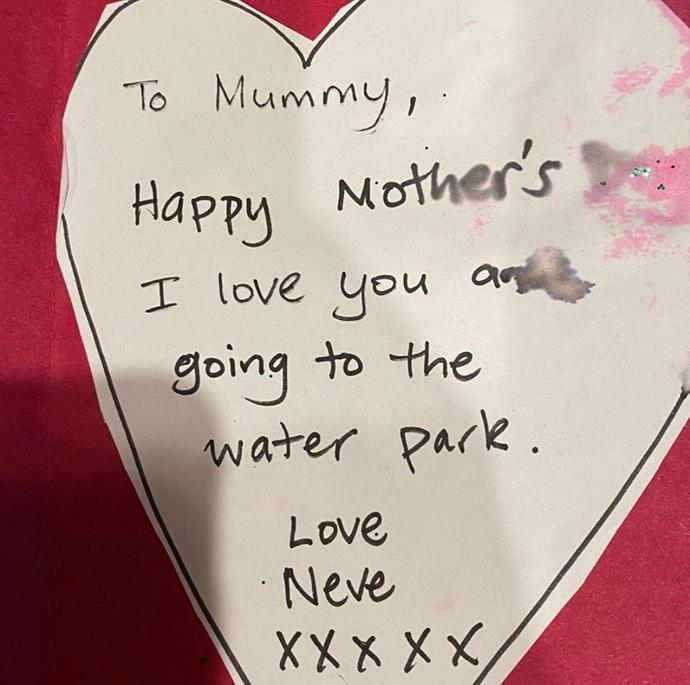 It's not Mother's Day without a handmade card and NZ Prime Minister Jacinda Ardern's daughter Neve absolutely nailed it.