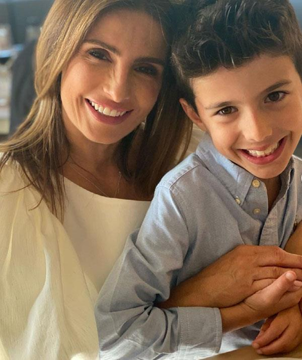 Ada Nicodemou rung in the special day with her son Johnas.