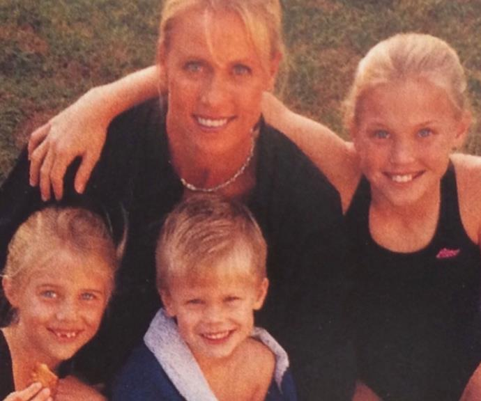 """A reflective Lisa Curry, [who tragically lost her oldest daughter Jaimi last year,](https://www.nowtolove.com.au/parenting/celebrity-families/lisa-curry-grant-kenny-daughter-jami-dies-65255 target=""""_blank"""") posted this throwback photo of her three young children.  <br><br> She captioned it: """"The greatest gift... being a mother ❤️❤️❤️ 😞😥👼"""""""