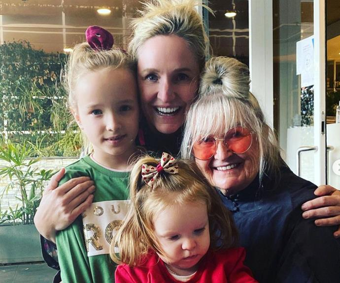 """""""Loved Mother's Day with my girls 💕 (even if Daisy was too busy to stop down for a photo),"""" Fifi Box shared."""