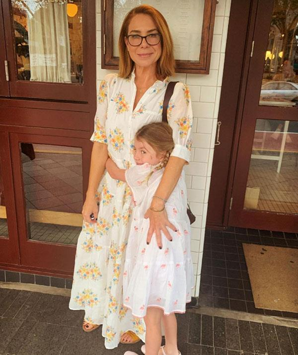 """Kate Ritchie and her mini-me daughter Mae enjoyed a mother-daughter lunch with the pair dressing in coordinating floral looks for the outing.  <br><br> """"Mumma and her bubba.. With full tummies and fuller hearts.. 💕 #mothersday."""""""