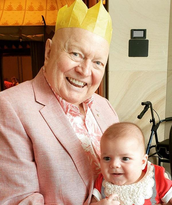 """Bert with his [newest grandson, Alby](https://www.nowtolove.com.au/parenting/celebrity-families/lauren-newton-son-alby-65629