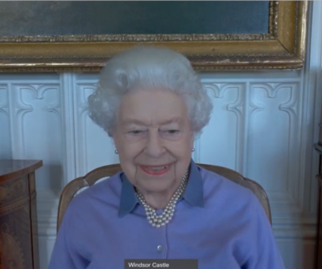 The Queen even cracked a smile on multiple occasion.