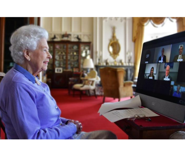 Her Majesty has held many meetings via video call during the pandemic.