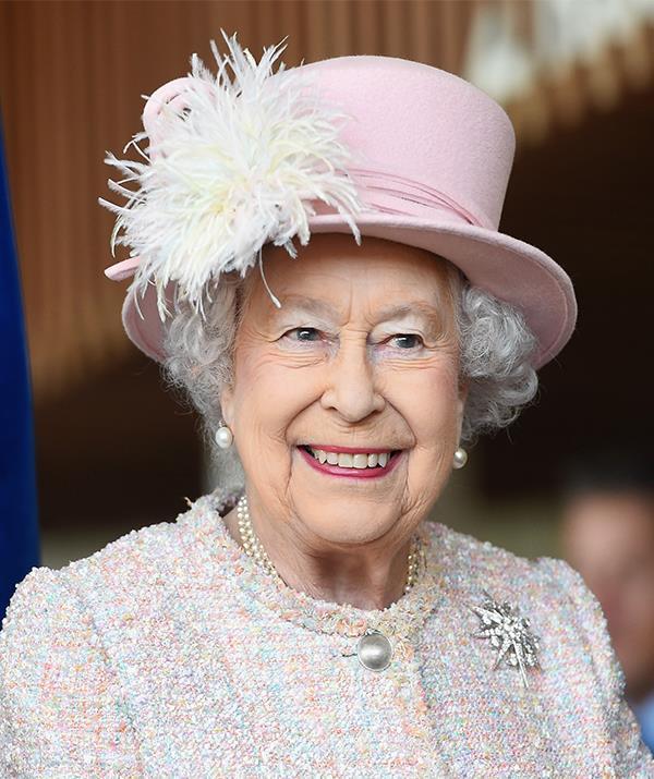 Queen Elizabeth II is a fan of a bold lip and bright eye.