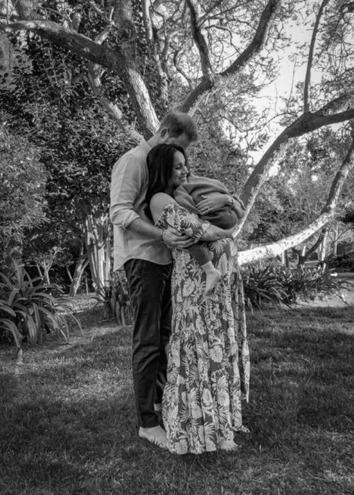 And then came the baby girl announcement! Yep, the Duke and Duchess confirmed in the groundbreaking interview they were expecting a baby girl - their pal Misan Harriman was quick to the punch by posting *another* congratulatory snap from his pregnancy shoot with them. In this one, Meghan wore a gorgeous palm print maxi dress by La Ligne Pyper.