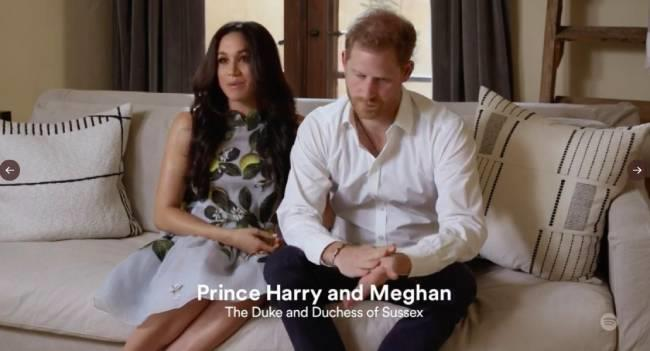 """The Duke and Duchess then made her next appearance in a [promotional video with Spotify](https://www.nowtolove.com.au/royals/british-royal-family/meghan-markle-spotify-appearance-66866
