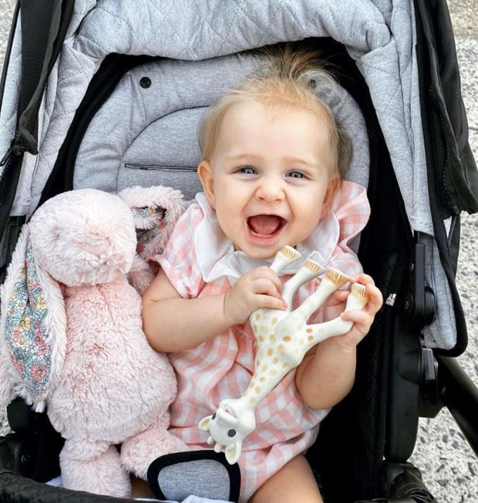 Anna shared this picture of Elle to celebrate her bub turning six months old.
