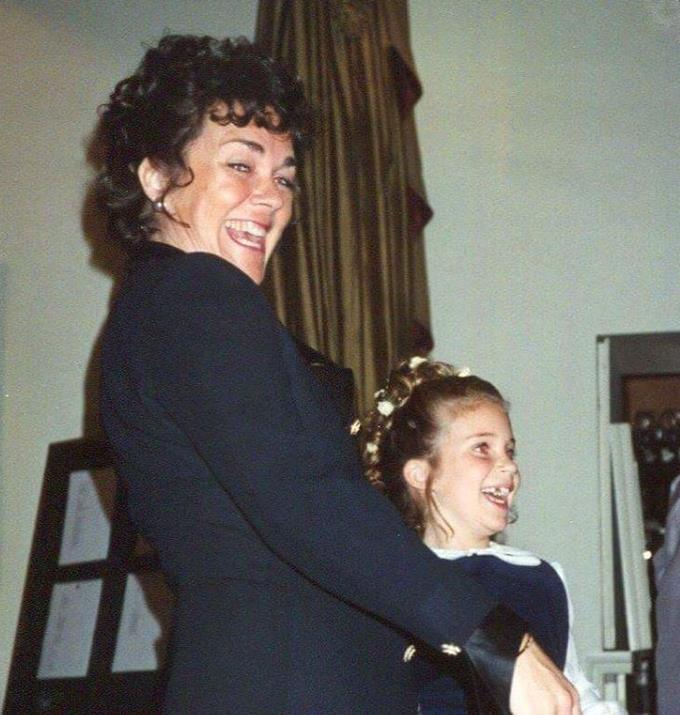 A throwback picture of Georgia and her mum, Belinda.