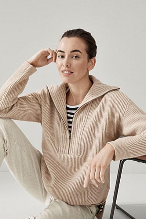"""This season is all about the half-zip trend - a modern and flattering look encapsulated perfectly in this tunic by Trenery. This pure wool ribbed sweater is knitted into a relaxed tunic length with a gently sculpted split hem to wear loose or tucked in. $199. [Buy it online here.](https://www.trenery.com.au/wool-half-zip-tunic-60266461-2332 target=""""_blank"""" rel=""""nofollow"""")"""