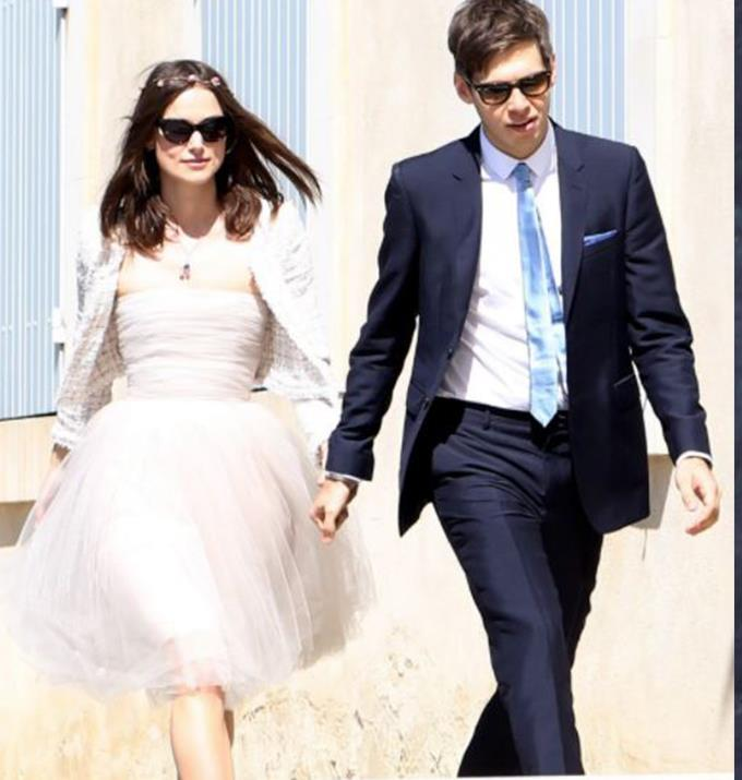 **Keira Knightly**  <br><br> The internet lost its mind when Keira married musician James Righton in a pink Chanel mini dress that she already owned and had worn to an event. She paired the dress with a tweed jacket also from Chanel, sunglasses and a petit flower crown, proving that she made the coolest bride.