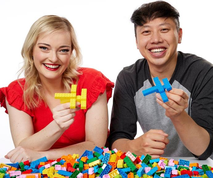 **Amy and Dawei, VIC** <br><br> These competitors certainly know their stuff! After meeting in 2019, Amy and Dawei, both 33, created their own YouTube channel, Foxy Bloxie, where they review LEGO together.