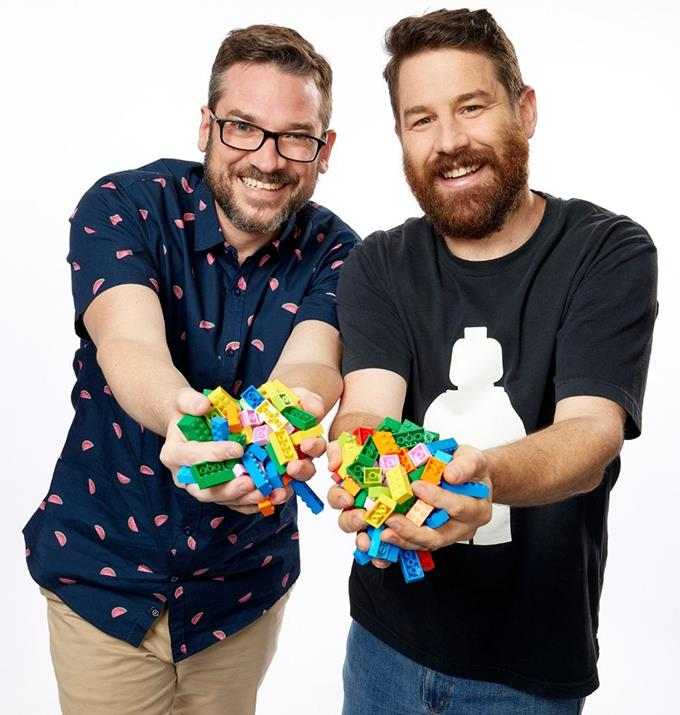 **David and Gus, VIC** <br><br> Engineer Gus, 36, knew that *LEGO Masters* was the perfect opportunity to challenge his creativity. Along with project manager David, 41, the pair are excited to show off their skills with unique and creative builds.