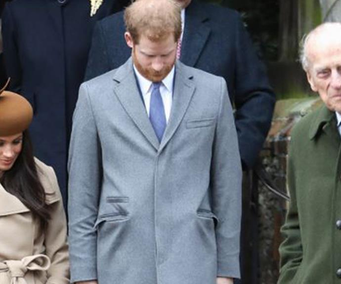Prince Phillip, Meghan Markle and Prince Harry.