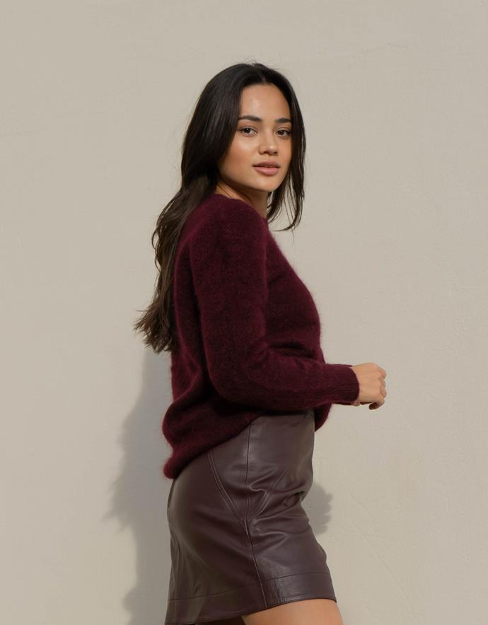 """[Leather A-line mini skirt](https://www.myer.com.au/p/sed-heritage-leather-a-line-mini-skirt-816070420-1?utm_medium=advertorial&utm_source=Are-Media&utm_campaign=AW21-Seed&utm_content=Wk17-Seed-Native-Article-Links
