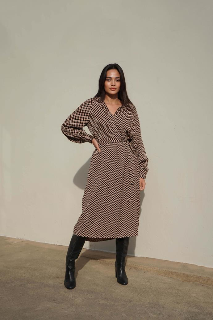 """[Geo midi dress](https://www.myer.com.au/p/sed-heritage-geo-midi-dress?utm_medium=advertorial&utm_source=Are-Media&utm_campaign=AW21-Seed&utm_content=Wk17-Seed-Native-Article-Links