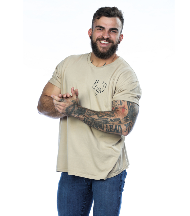 **Mitch** <br><br> Mitch, 26, is a FIFO worker from WA and he is a force to be reckoned with. The friendly giant reckons he'll dominate each challenge while also bring some childish fun to the house!