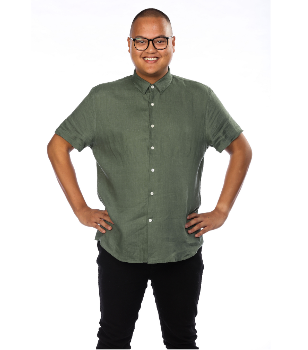 **Gabe**<br><br> Gabe's plan in the house is to talk sweet and play dirty. This 27-year-old Queensland trampoline park attendant is a passionate foodie and just as passionate about winning.