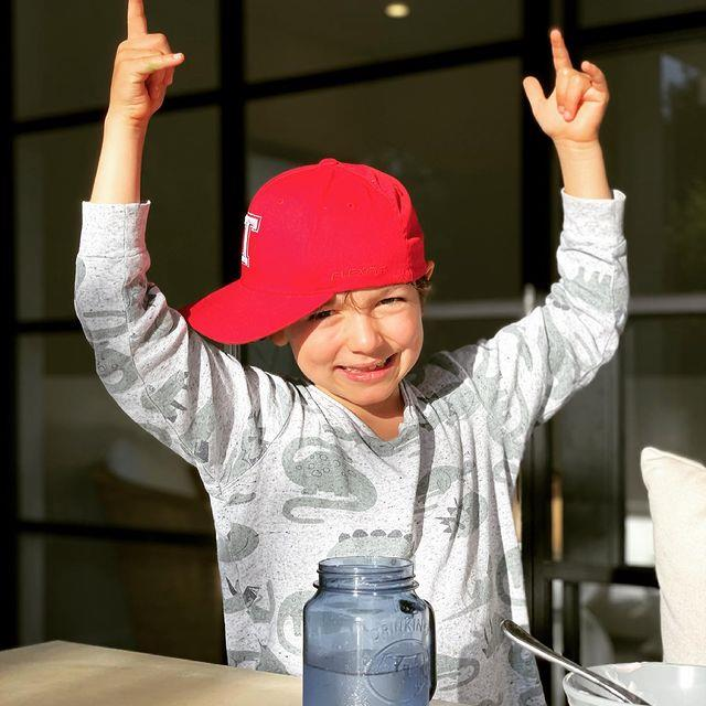 Wippa's eldest son Jack is definitely taking after his father in the jokes department.