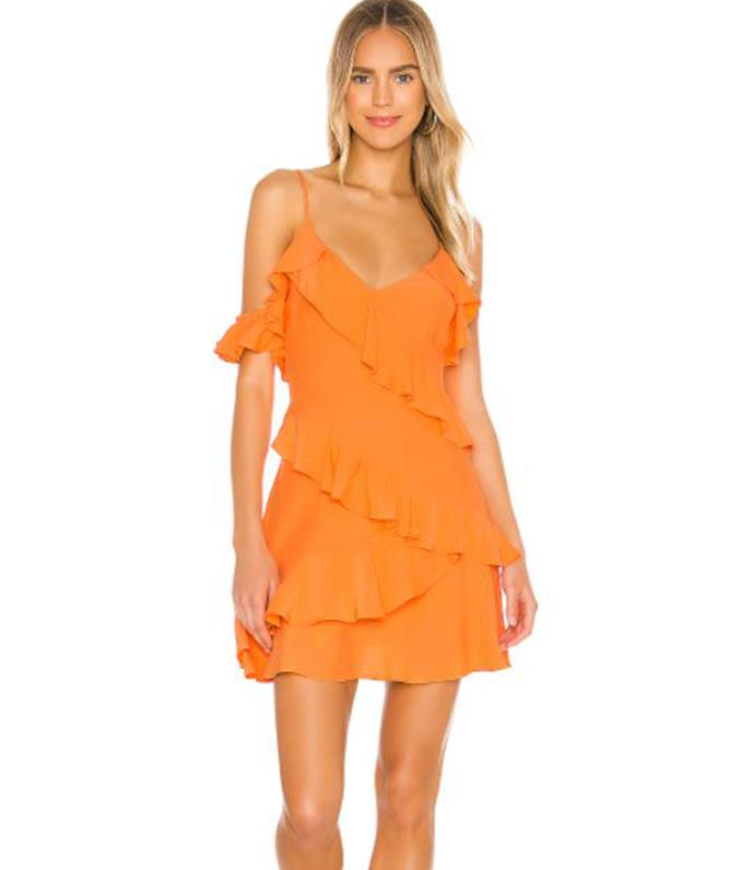 """Revolve Sloane Mini Dress, $140.95. [Buy it online here](https://www.revolveclothing.com.au/song-of-style-sloane-mini-dress/dp/SOSR-WD100/?d=Womens&page=1&lc=52&itrownum=13&itcurrpage=1&itview=05&size=XXS