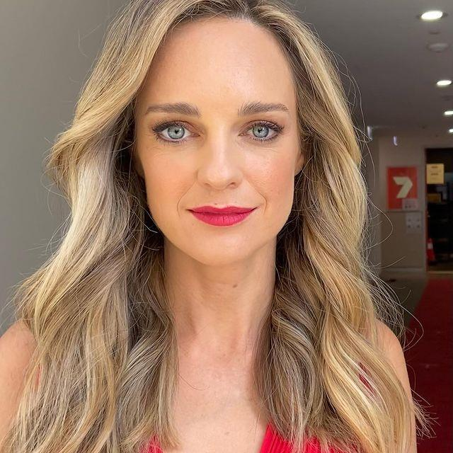 Penny Mcnamee was the ultimate lady in red for the soap's *TV WEEK* Christmas shoot in 2020.