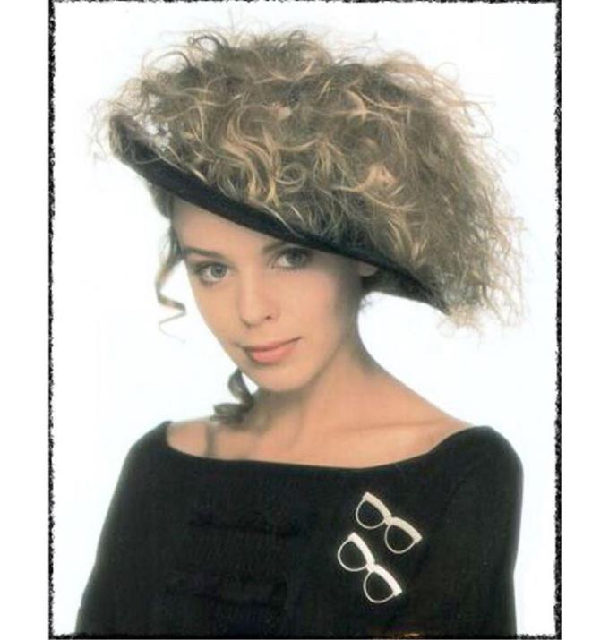Lastly, who can forget Kylie's hair hat featured on the cover of her debut album, called Kylie. Not only was this accessory a key part of the pop queens breakthrough moment but it also encapsulated everything we know about the 80s. Which is go big or go home!