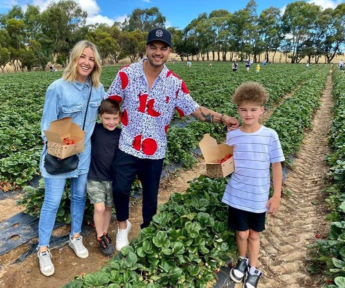 We wonder if the boys were more excited for strawberry picking or the strawberry creation Jules made once they got home.