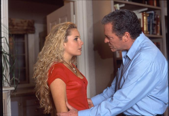 Rebecca's turbulent relationship with her dad went through its ups and downs. One of the more dramatic moments occurred when he decided he would marry Marilyn Chambers, much to Rebecca's distaste. After a confrontation with the bride-to-be, who was still played by Emily Symons all those years ago, Rebecca made peace with it all.