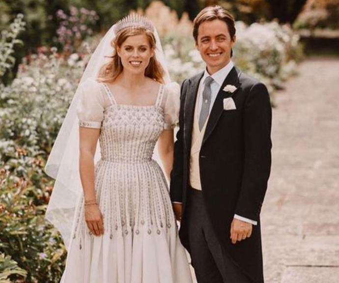 Princess Eugenie has shared this never-before-seen photo from her older sister's wedding day last July.