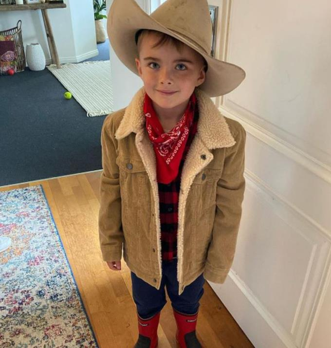 Is Axel getting ready for a rodeo?