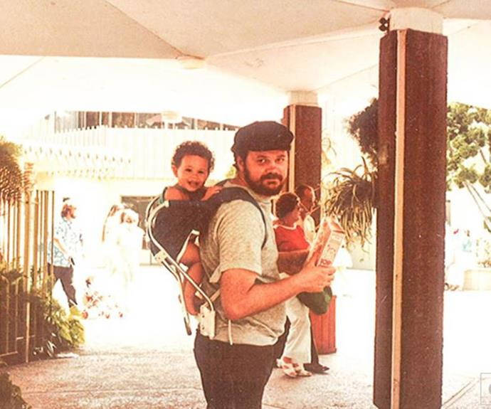 Anyone else see a resemblance between Archie and Meghan? She's pictured here as a baby with her dad, Thomas Markle.
