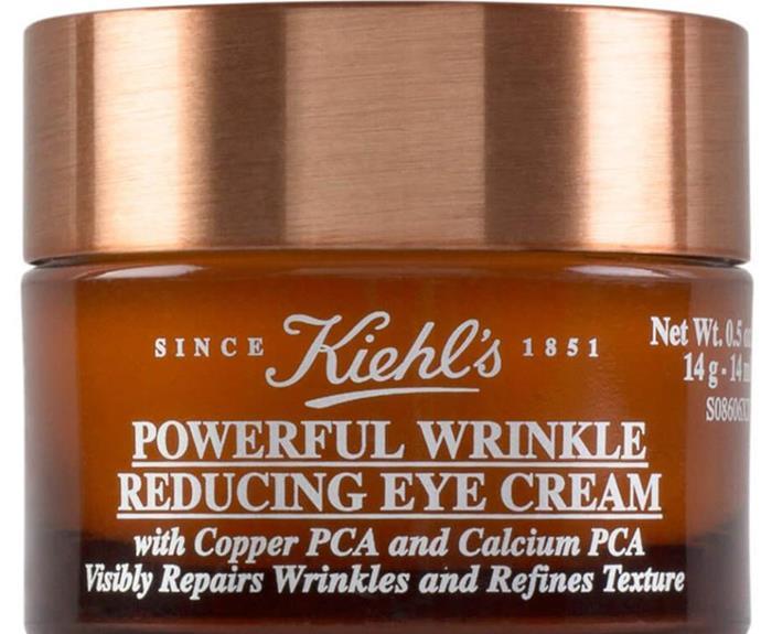 "$58.00 from [Mecca](https://www.mecca.com.au/kiehls/powerful-wrinkle-reducing-eye-cream/I-041311.html target=""_blank"")."