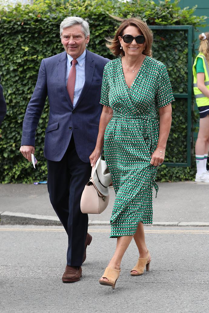 Like many of us, Carole loves a summer dress - and this green wrap style she wore to Wimbledon had an uncanny familiarity to it...