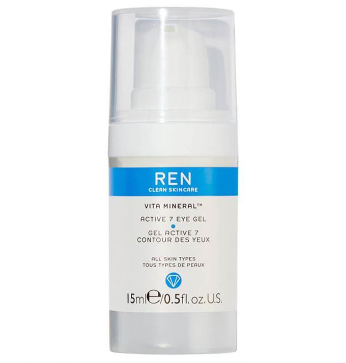 "$50 from [Mecca.](https://www.mecca.com.au/ren-clean-skincare/vita-mineral-active-7-eye-gel/I-018842.html target=""_blank"")"