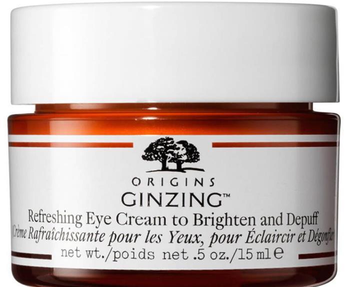 "$50 from [Mecca.](https://www.mecca.com.au/origins/ginzing-refreshing-eye-cream/I-007883.html target=""_blank"")"
