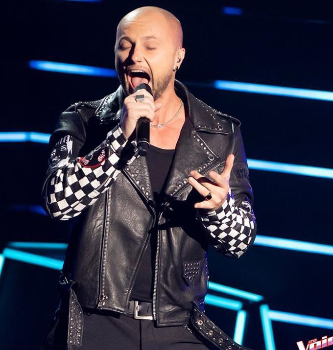 Mark was on Guy Sebastian's team on last year's season of The Voice.