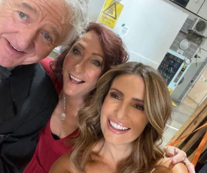 """""""Fun on set with my Summer Bay Buddies @adanicodemou #ShaneWithington #anotherfundayinthebay,"""" Lynne captioned this snap with Shane and Ada."""