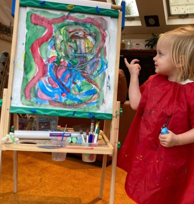 A little artist in the making.