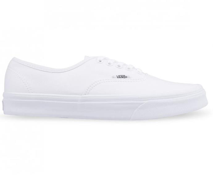 """HYPE Vans Authentic, $109.99. [Buy them online here](https://www.hypedc.com/au/authentic-true-white.html