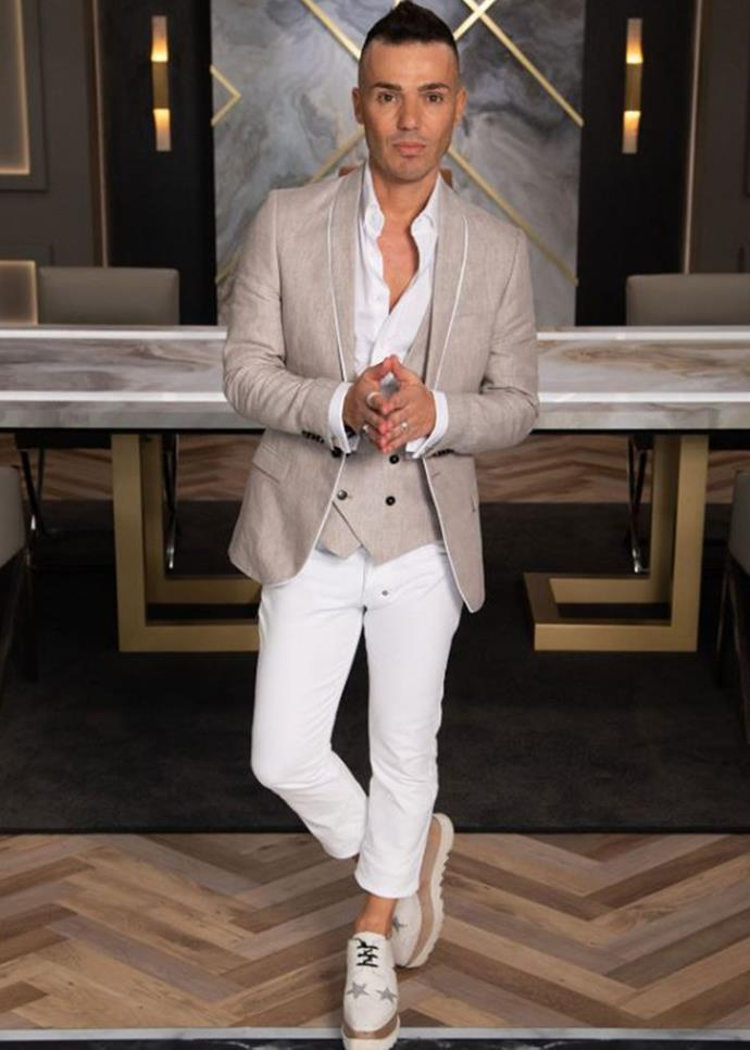 """**Anthony Callea** <br><br> After a budgy smuggler showdown, Anthony Callea was the fourth to get the flick on *Celebrity Apprentice*. Speaking of his exit in the aftermath, he told Channel Nine he """"wouldn't have done anything differently""""."""