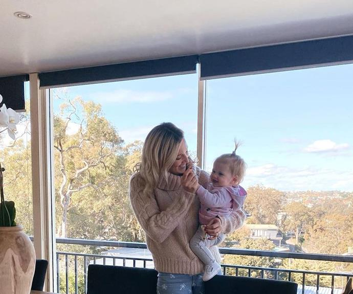 Super mum and super baby enjoying the view.