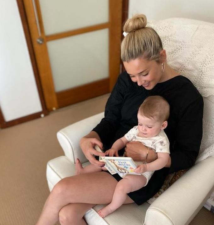 """To mark [Harper's first birthday](https://www.nowtolove.com.au/celebrity/celeb-news/karl-stefanovic-jasmine-stefanovic-daughter-harper-family-moment-67824 target=""""_blank""""), Jasmine penned this sweet message.  <br><br>  """"One year ago today you came into our world and filled our hearts with so much love. You are the most precious soul who we love beyond words. <br><br>  """"Thank you for making my world Harper May! You have completely filled Mummy's heart 💗."""""""