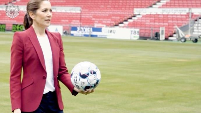 Princess Mary celebrated the launch of her new soccer