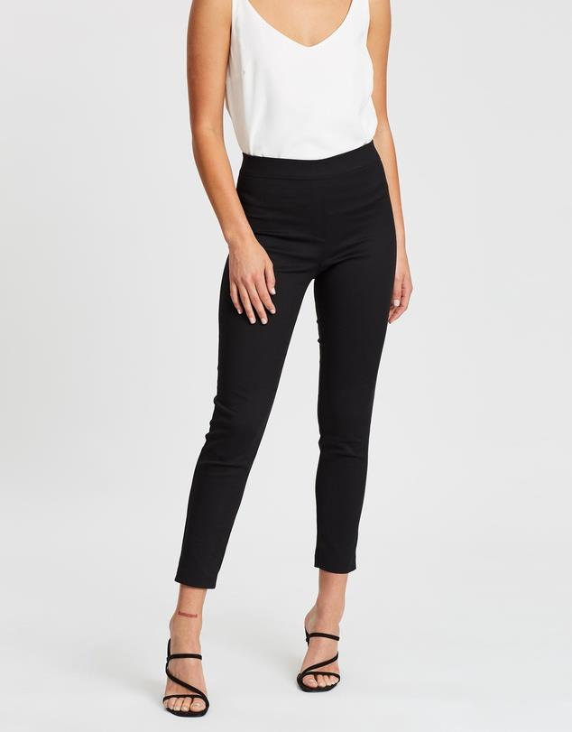 """Atmos&Here Skinny Bengaline Pants, $39.99. **[Buy them online via The Iconic here](https://www.theiconic.com.au/skinny-bengaline-pants-1132117.html